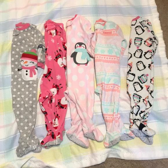 4be02b558 Carter's Pajamas   5 Carters Sleeper Footed Snowman Penguin   Poshmark